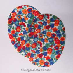 Coudières Liberty Gleeson bleu-rouge