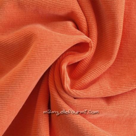 Velours milleraies orange
