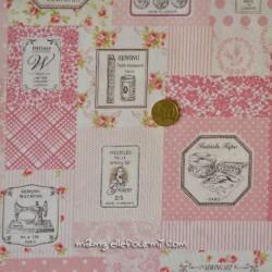 Coton japonais couture rose