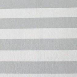 Sweat bio rayé gris-blanc