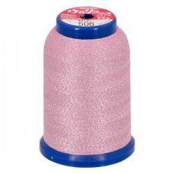 Fil mousse lamé rose-argent