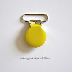 Attache clip bretelle jaune