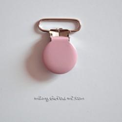 Attache clip bretelle rose pâle