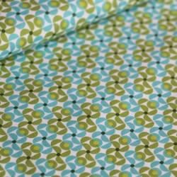 Coton puzzled milly bleu-vert