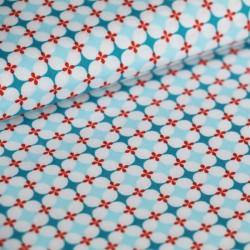 Coton granny's tiles bleu