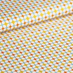 Coton granny's tiles orange