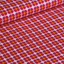 Coton granny's tiles rose
