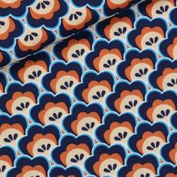 Coton seashore shelly bleu profond