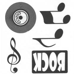 Assortiment motifs flex noir musique