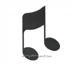 Motif flex note double noir