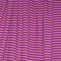 Jersey bio stretch rayé violet/violet