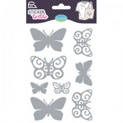 Sticker textile papillons glitter