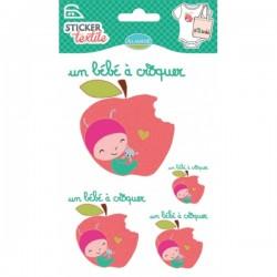Sticker textile bébé à croquer