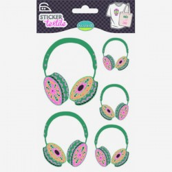 Sticker textile casques