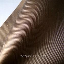Toile striée cuivre