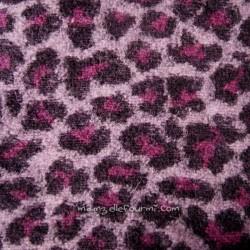 Maille léopard mauve