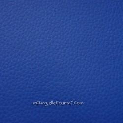 Similicuir grainé bleu