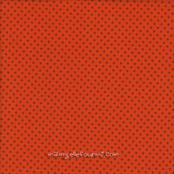 Jersey orange pois noir