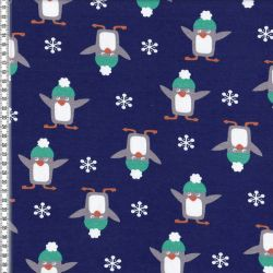 Molleton pingouins marine