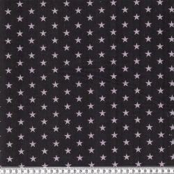 Velours étoiles gris/noir
