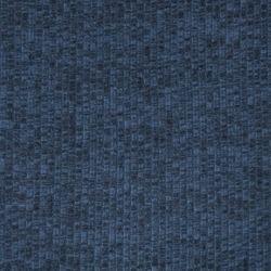 Jersey côtes plates chiné bleu