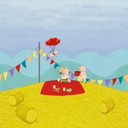 Jersey Finch picnick pigs