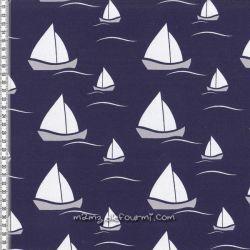 Molleton sailing boat bleu foncé