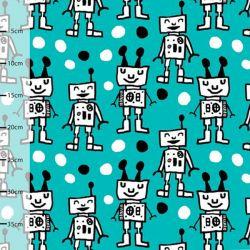 Jersey bio happy robots turquoise