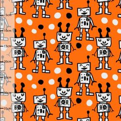 Jersey bio happy robots orange