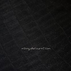 Suédine croco noire
