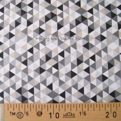 Coton trimix noir-gris