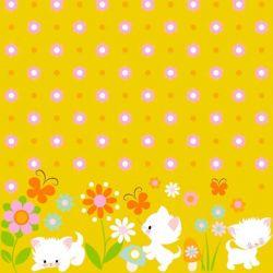 Jersey Finch playin' kittens jaune