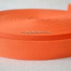 Sangle coton mélangé orange