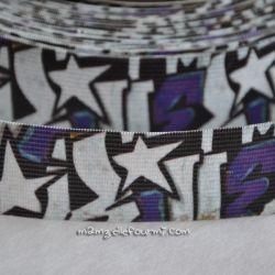 Élastique shorty graffiti violet