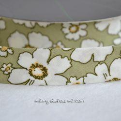 Biais flower vert amande