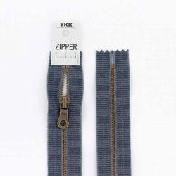 Fermeture métal coton délavé jeans