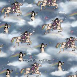 Rainbow dreams fille à cheval