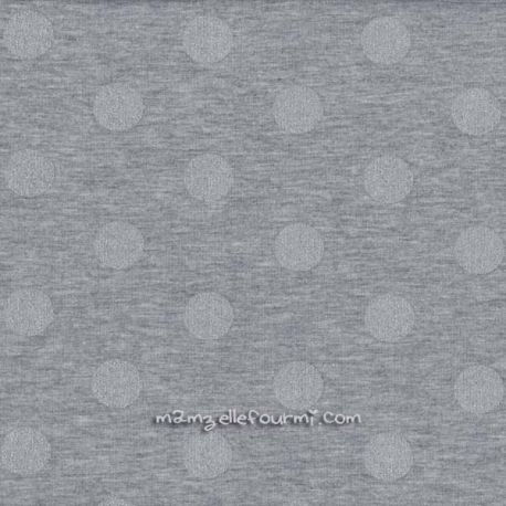 Jersey gris pois argent