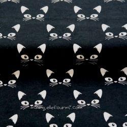 Jersey bio chats blanc sur noir