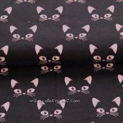 Jersey bio chats rose sur noir