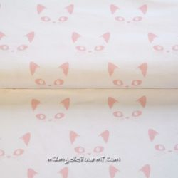 Jersey bio chats roses sur blanc