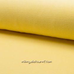 Jersey velours Oko-Tex jaune pâle