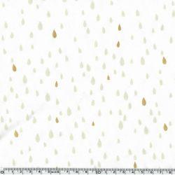 Jersey coton/élasthanne pluie d'or blanc cassé