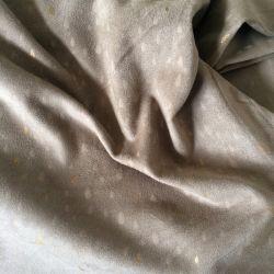 Suédine pluie d'or grège