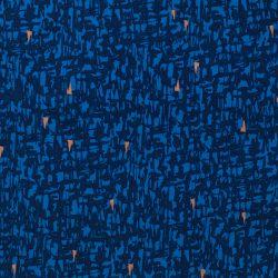 Viscose strokes bleu foncé