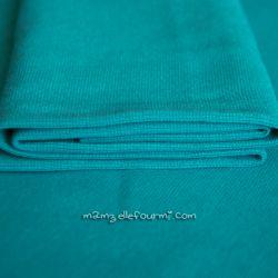 Bord-côte turquoise foncé