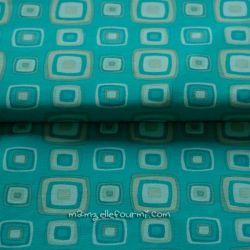 Jersey retro blocks turquoise