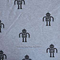 Molleton gris robots