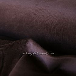 Velours milleraies stretch marron