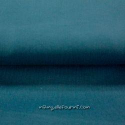 Velours babycord bleu pétrole